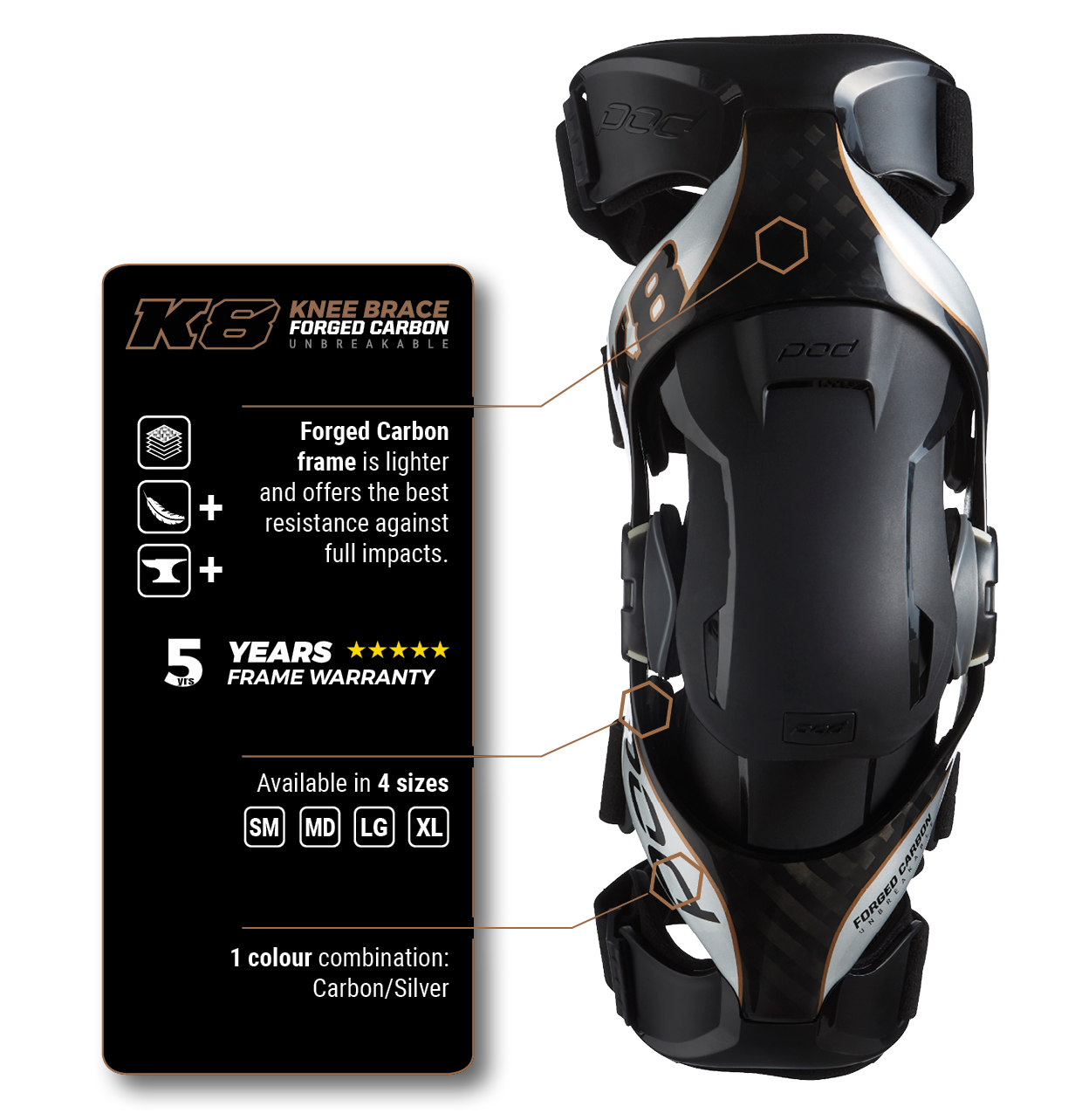POD Active K8 Knee Brace - Features